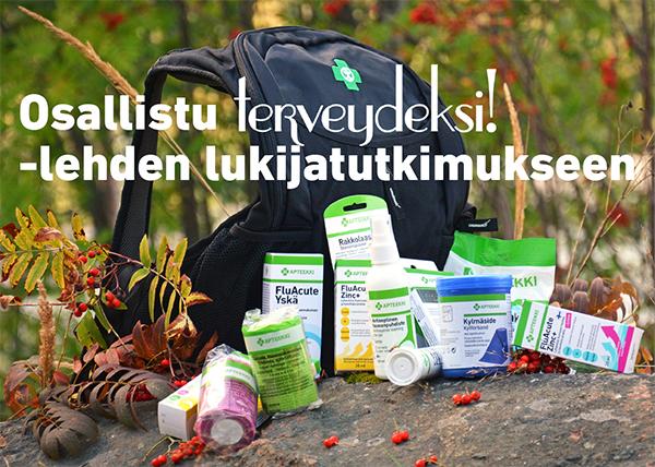 Osallistu Terveydeksi! -lehden lukijatutkimukseen
